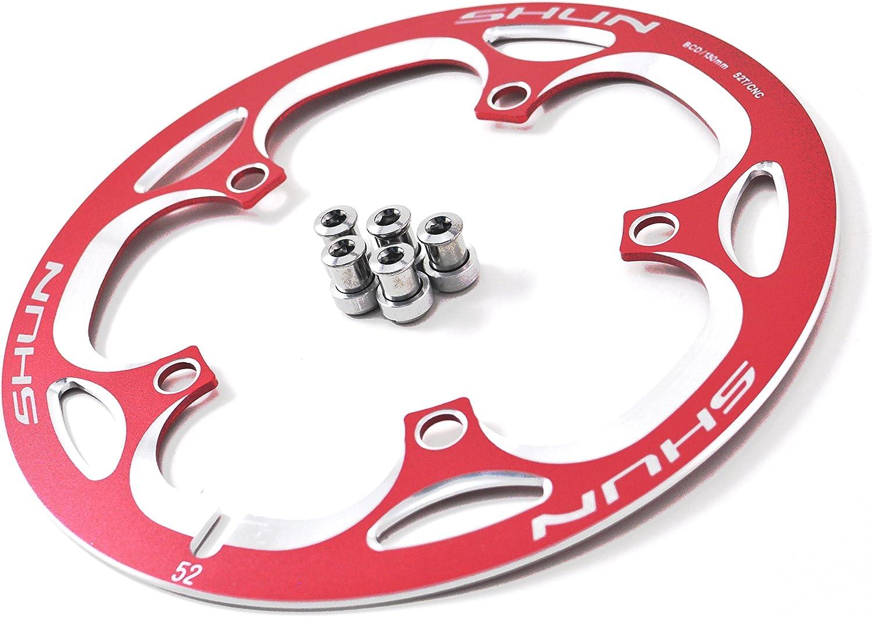 Driveline Crank Chain Guard Road Bike 52T BCD 130 Red