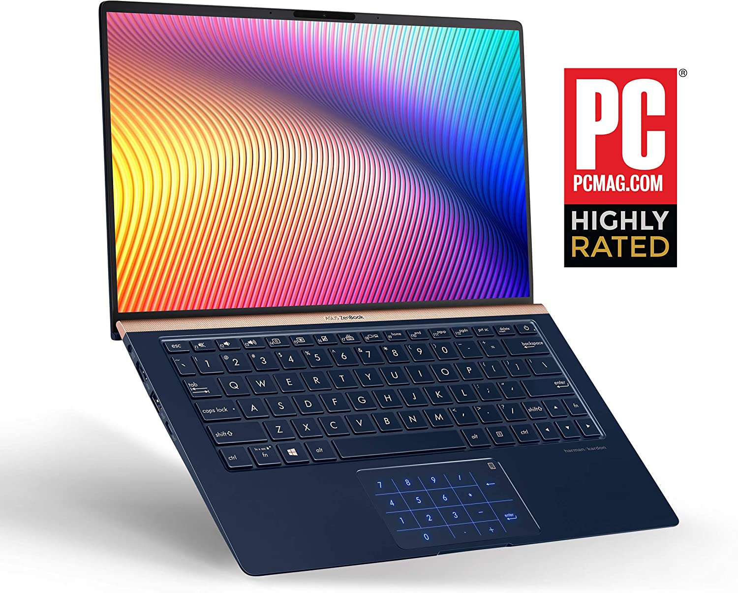 "ASUS ZenBook 13, 13.3"" FHD WideView, 8th-Gen Intel Core i7-8565U CPU, 16GB RAM, 512GB PCIe SSD"