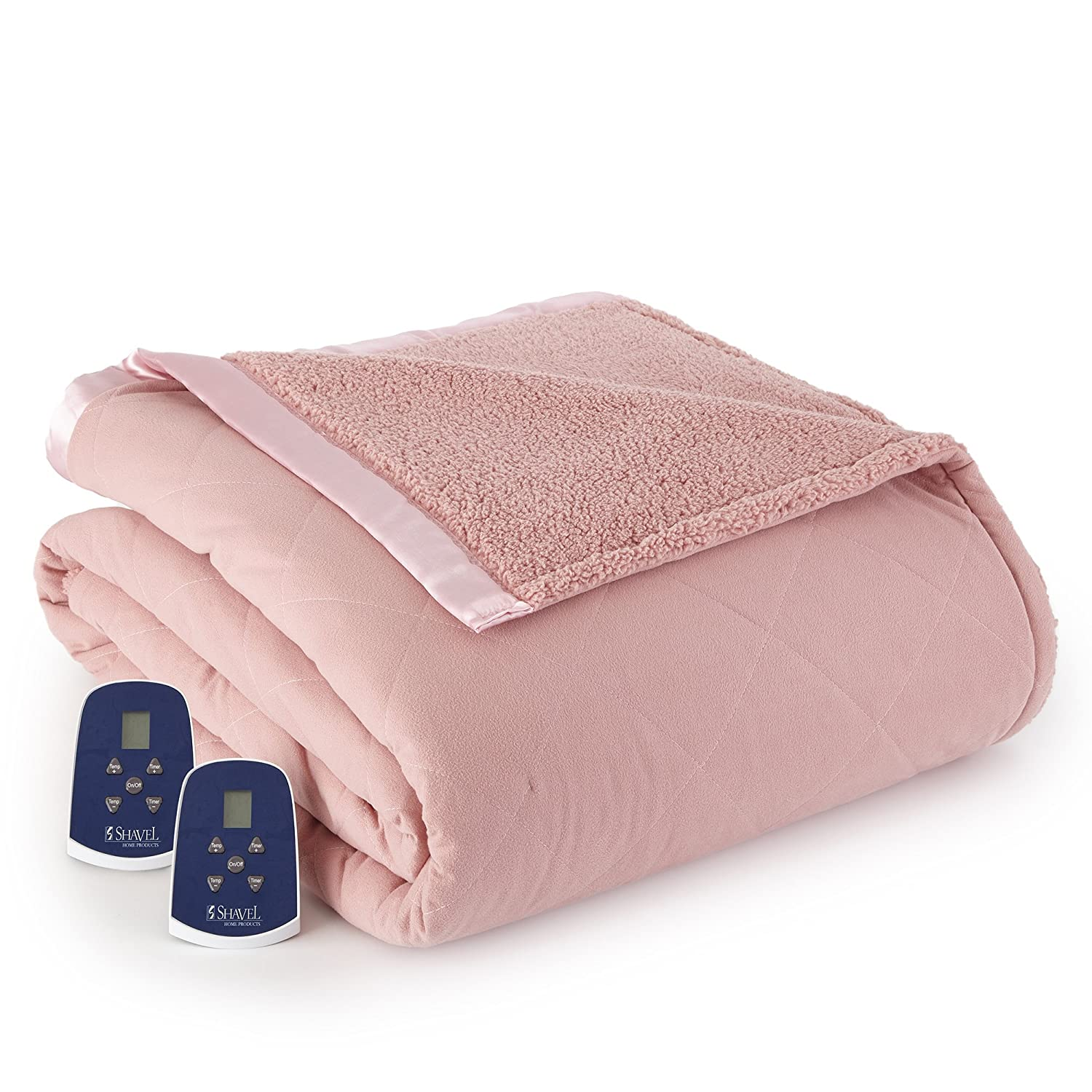 Sand King Thermee Micro Flannel Electric Blanket with Sherpa Back