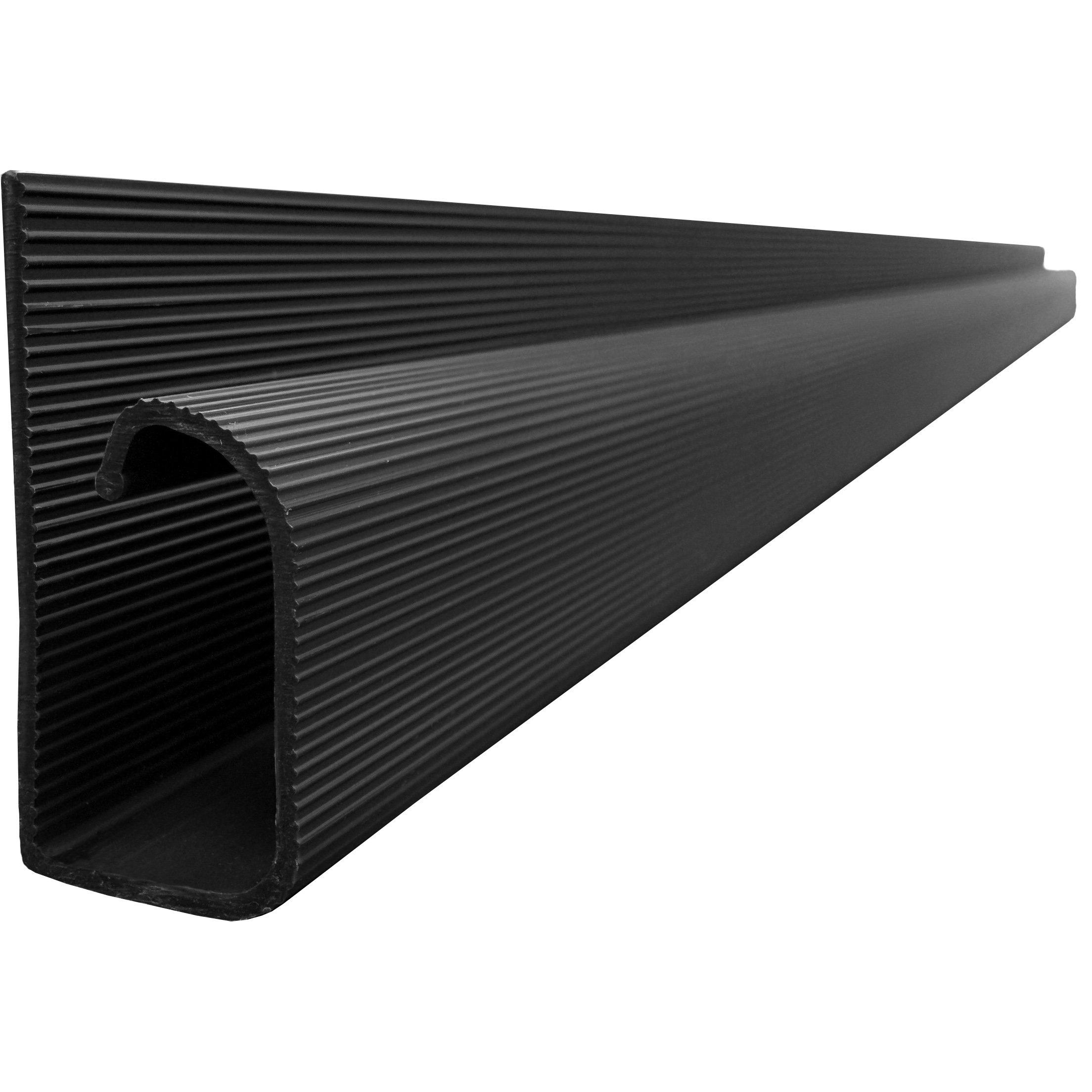 J Channel Cable Raceway - Black - 48'' Length