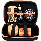 Tame's Premium Beard Grooming Kit - Natural Beard Care Kit For Men - Orange Walnut Beard Soap - 100% Boar's Hair Beard…