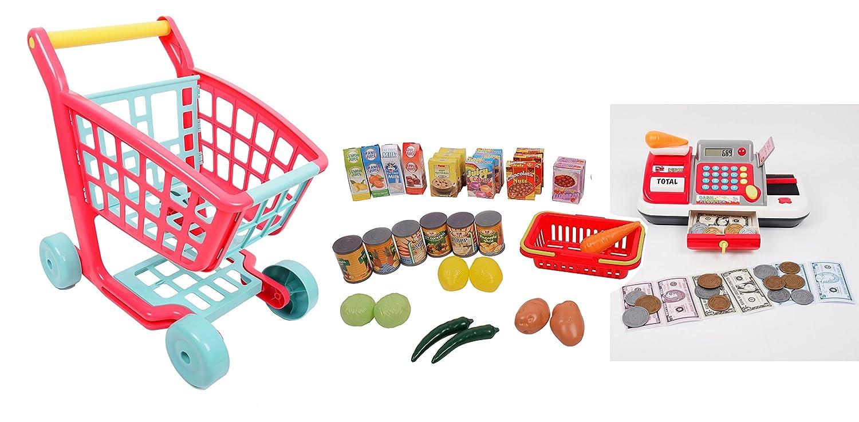 Gi-Go Deluxe Shopping Cart and Cash Register Set