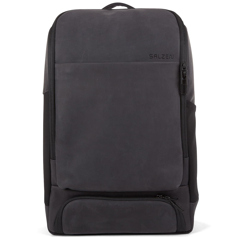 5e84352dae6cc SALZEN Sleek Line Alpha Laptoprucksack 15 Zoll Leather 801 charcoal black   Amazon.de  Bürobedarf   Schreibwaren