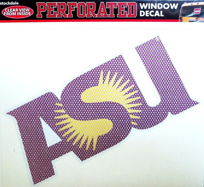 Arizona State Sun Devils SD Medium 8' Perforated One-Way Auto Window Film Glass Decal University of Stockdale