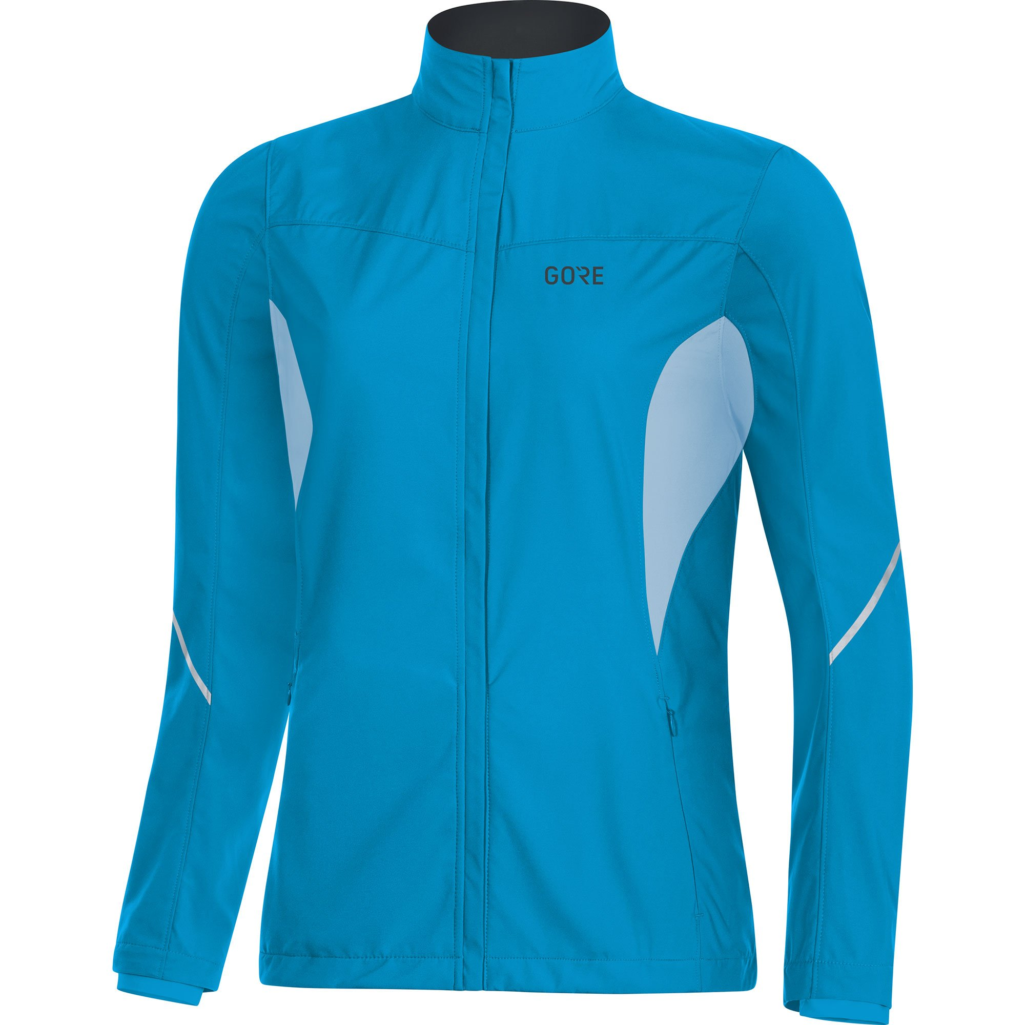 GORE WEAR Women's Windproof Running Jacket, R3 Women's Partial Windstopper Jacket, Size: S, Color: Dynamic Cyan/Ciel Blue, 100081