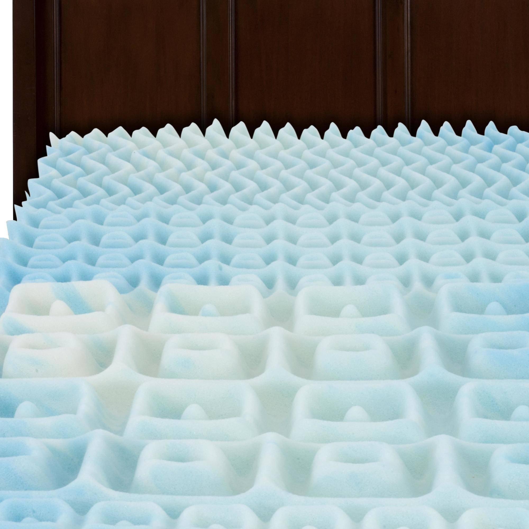 Beautyrest 3'' Convoluted SwirlGel Foam Mattress Topper, Twin Size