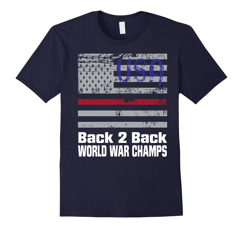 Back 2 Back WW Champs USA Flag Tshirt-PL