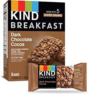 product image for KIND Breakfast Bars, Dark Chocolate Cocoa, Gluten Free, 1.8oz, 32 Count