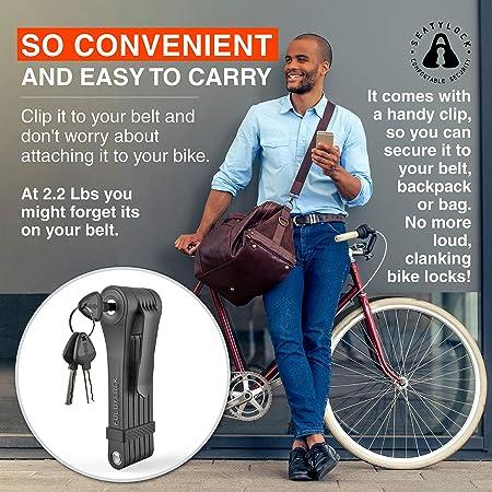 Amazon.com: Candado plegable para bicicleta, diseño de pinza ...