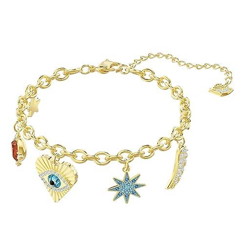 14874054f12e85 Swarovski Braccialetto Lucky Goddess Charms, Multicolore, placcatura Oro:  Amazon.it: Gioielli