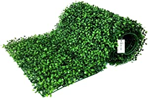 """BESAMENATURE 12 Piece Artificial Boxwood Hedge Panels, UV Protected Faux Greenery Mats for Both Outdoor or Indoor Decoration, 20"""" L x 20 W"""