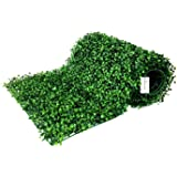 "BesameNature 12 Piece Artificial Boxwood Hedge Panels, UV Protected Faux Greenery Mats for Both Outdoor or Indoor Decoration, 20"" L x 20 W"""