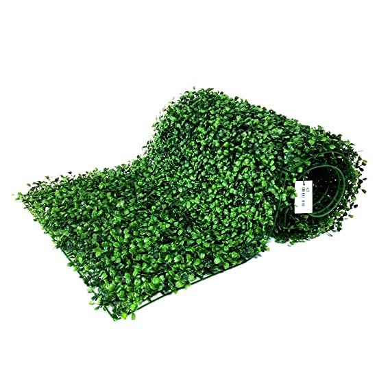 """Besamenature 12 Piece Artificial Boxwood Hedge Panels, Uv Protected Faux Greenery Mats For Both Outdoor Or Indoor Decoration, 20"""" L X 20 W by Besamenature"""
