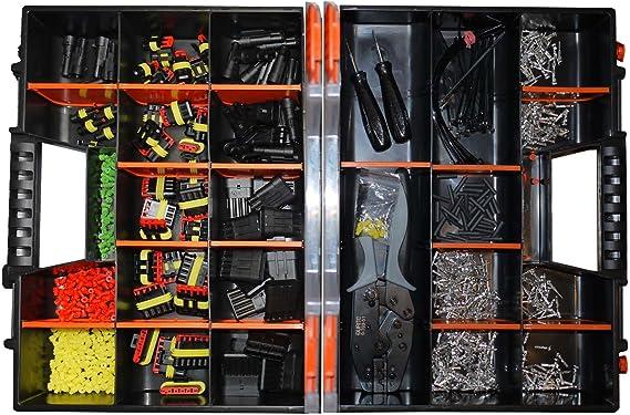 Amp Superseal 1 Polig Bis 6 Polig Sortiment Box Crimpzange Ausstech Und Entriegelungswerkzeug Steckverbinder Zubehör Elektrik Kfz Auto