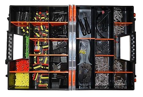 AMP Super Seal 1 pines a 6 pines Surtido caja Crimpadora Galletas de accesorios y herramienta