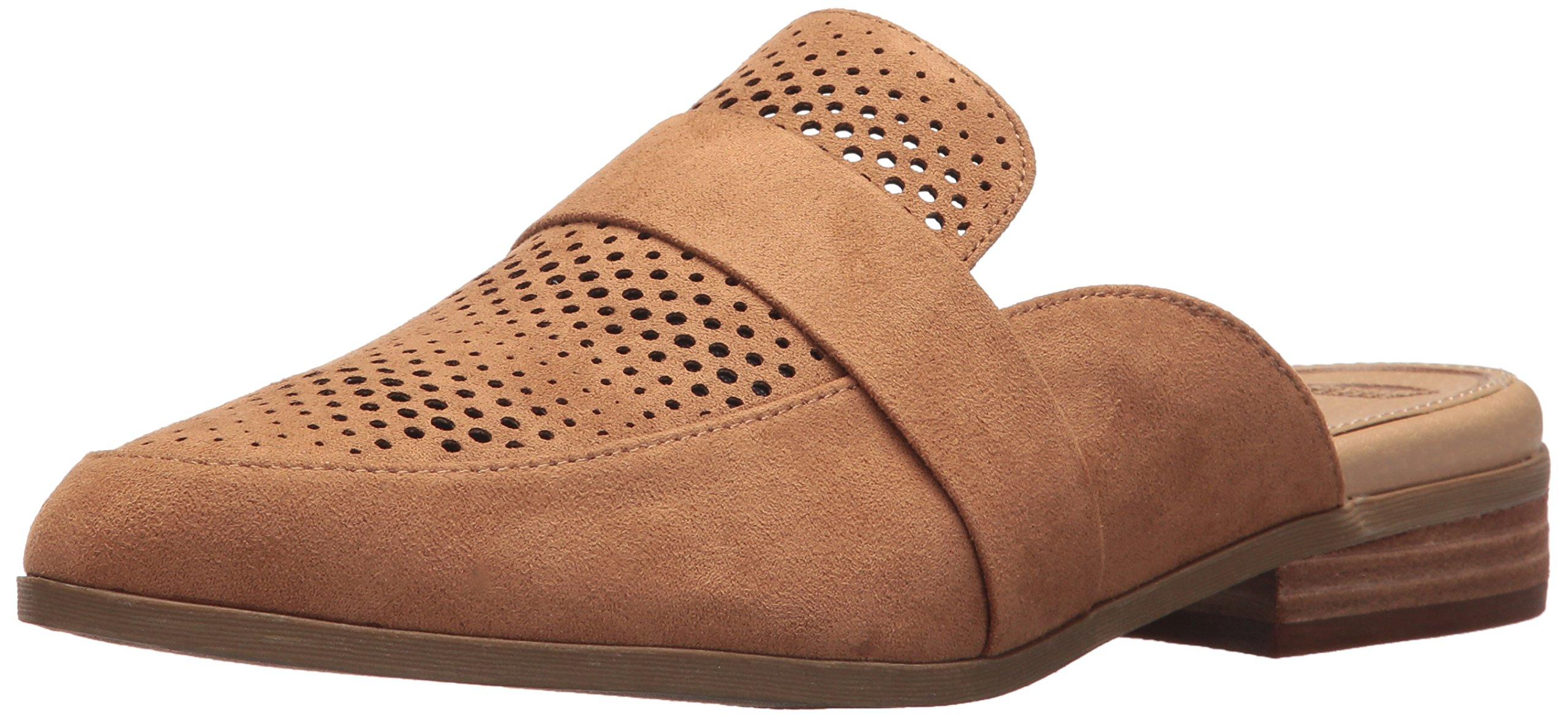 Dr. Scholl's Shoes Women's Exact Chop Mule, Saddle Microfiber, 6 M US