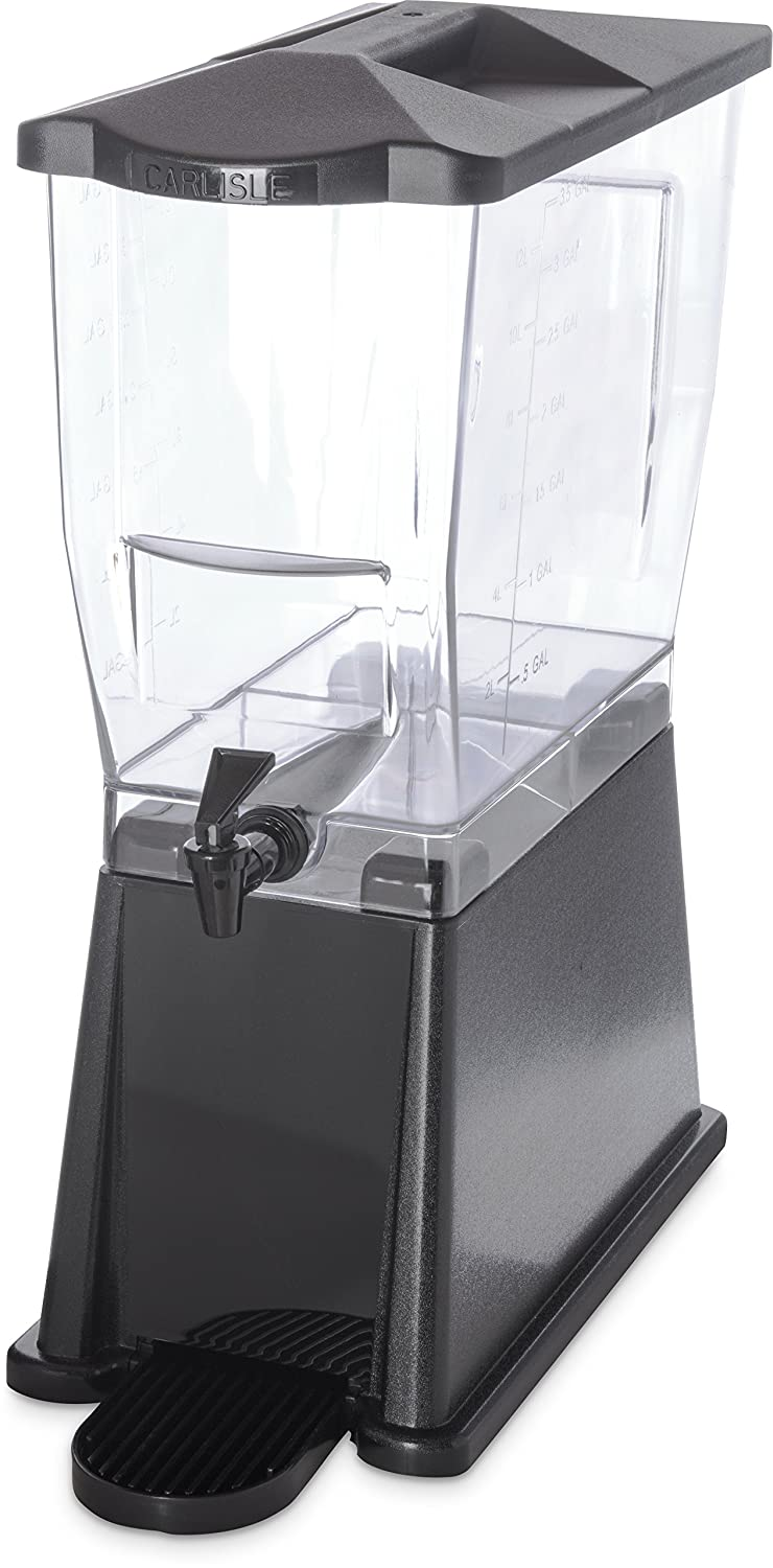 Carlisle 1085203 TrimLine Clear Economy Single Base, 3.5 gal. Capacity, Black