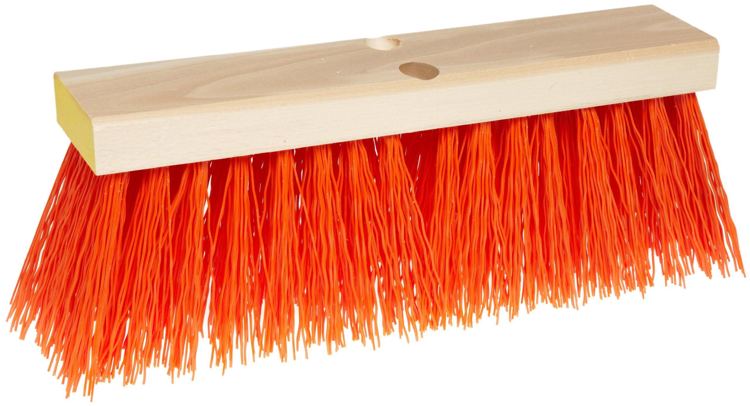 Weiler 70212 Polypropylene Street Broom, 16'' Overall Length, Natural