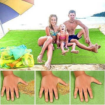Tacobear Alfombras de Playa Anti-Arena 200X150cm Alfombra sin Arena Beach Mat Manta de Picnic