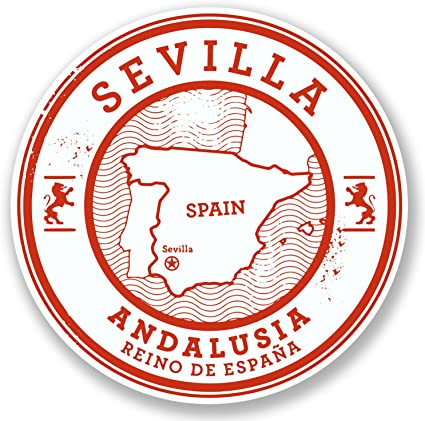 2 x 10 cm Sevilla Sevilla España Pegatina vinilo de viaje equipaje etiqueta regalo # 6580: Amazon.es: Coche y moto