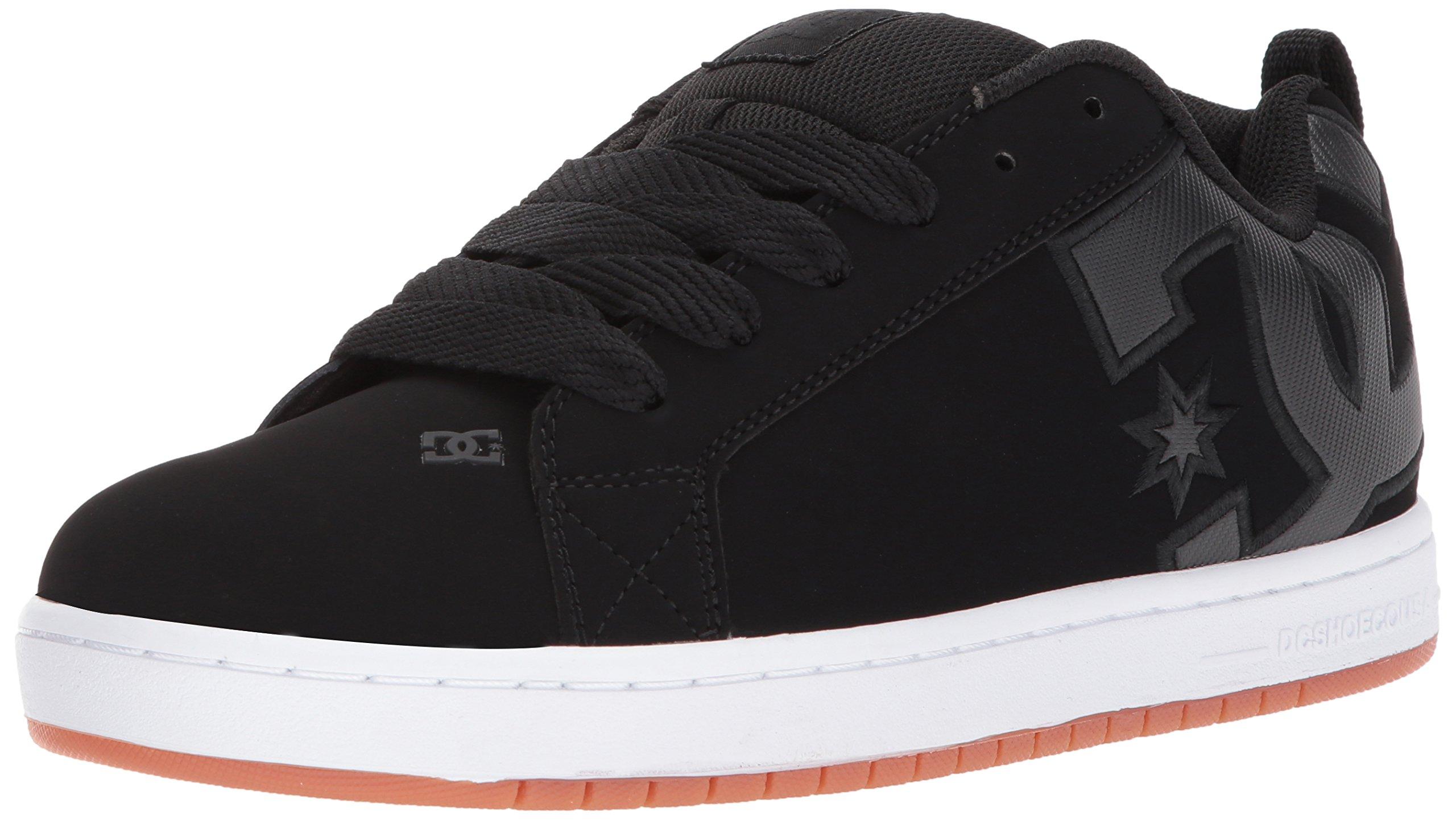 DC Men's Court Graffik SE Skate Shoe Black/Gum, 6 D D US