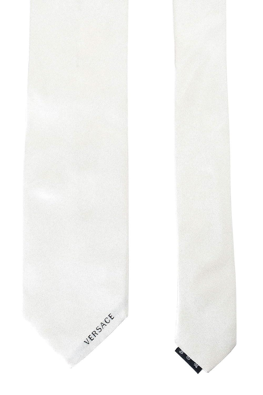 Versace Mens Off White 100/% Silk Tie