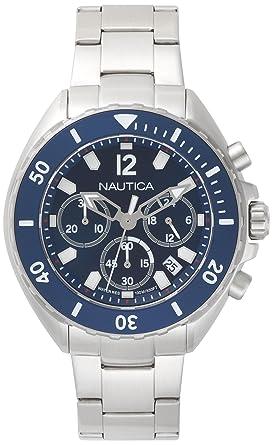 Nautica Reloj Analogico para Hombre de Cuarzo con Correa en Acero Inoxidable NAPNWP009: Amazon.es: Relojes