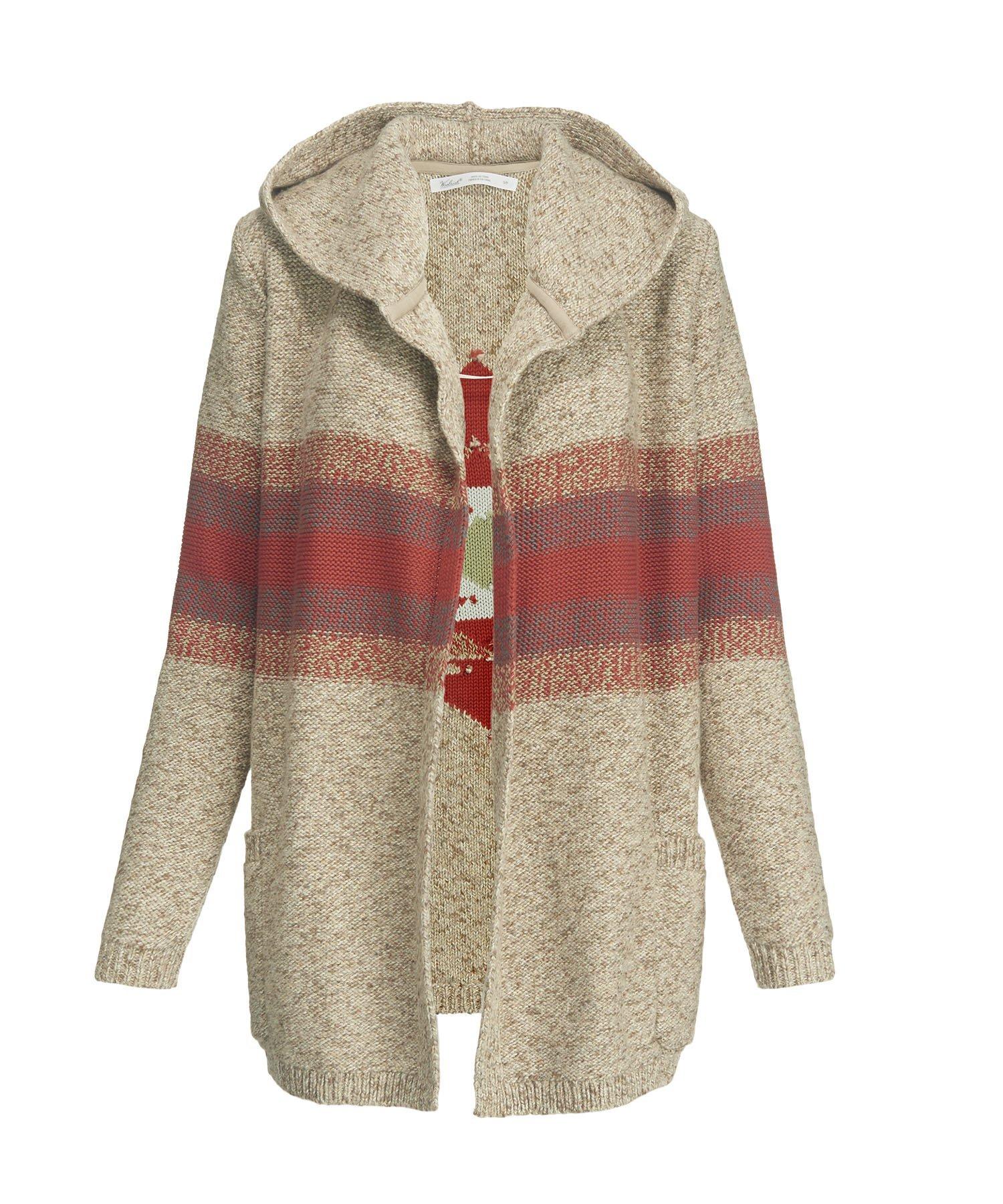 Woolrich Women's Blue Spruce Cardigan Sweater Coat, BURLAP MARL (Beige), Size L by Woolrich (Image #1)