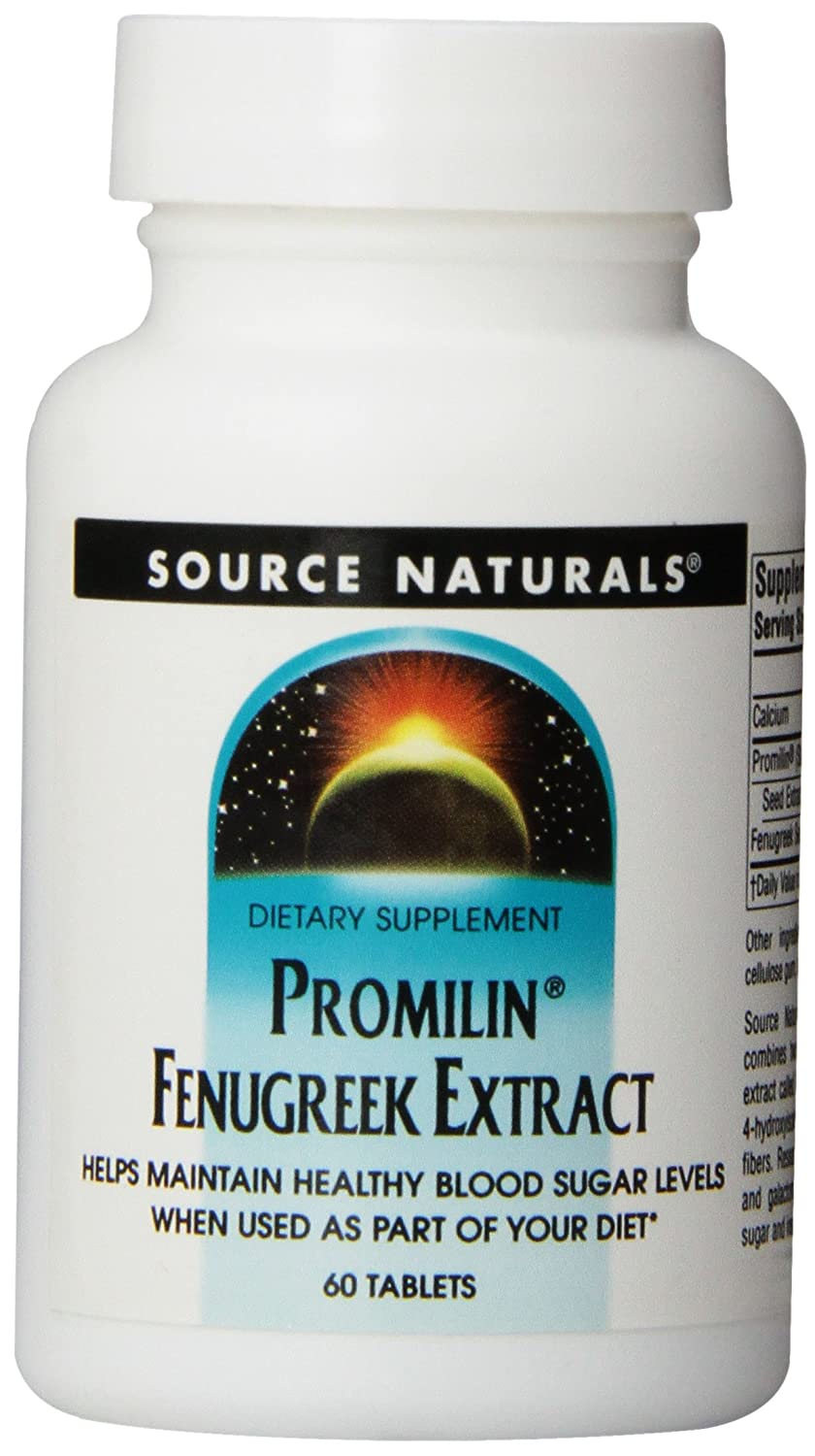 Source Naturals Promilin Fenugreek Extract 500mg, Supports Healthy Blood Sugar Levels, 60 Tablets