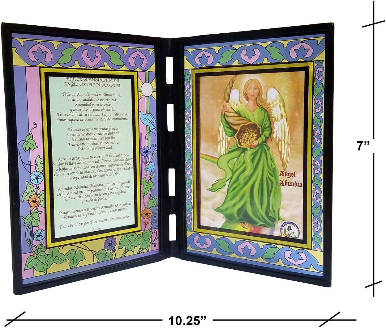Amazon Com Productoslamilagrosa Com Abundia Angel Frame Abundancia Version Espanola Oracion Hecho En Estados Unidos Home Kitchen