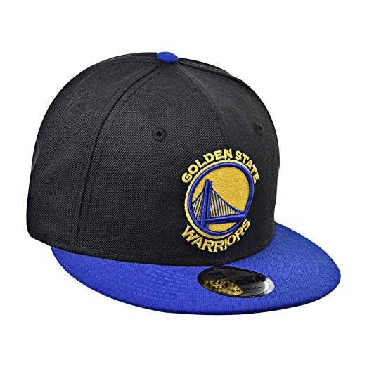 New Era Golden State Warriors 9fifty Men s Snapback Hat Cap Black Blue Yellow  70372139 fd45b72ef8e8