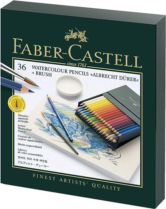 Faber-Castell 117538 - Estuche estudio con 36 ecolápices acuarelables, multicolor: Amazon.es: Oficina y papelería