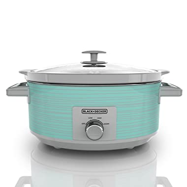 Black & Decker SC2007D Slow Cooker Wave, 7 Quart, Teal