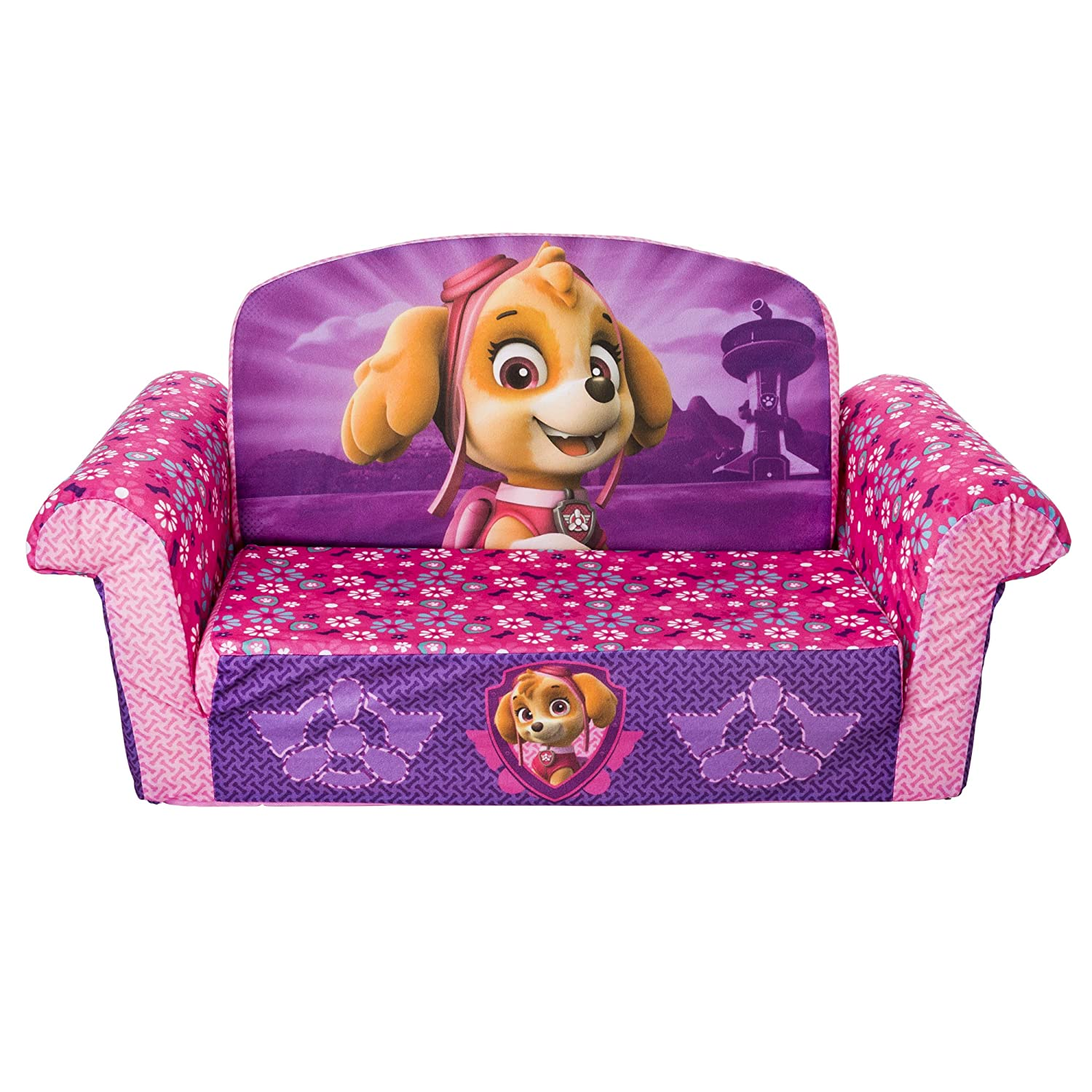 Marshmallow Furniture 20092497 Children's 2 in 1 Flip Open Foam Sofa, Nickelodeon Paw Patrol Toys R Us Exclusive, by Spin Master