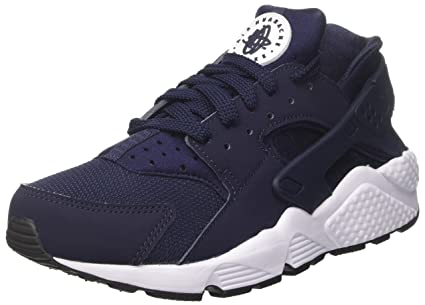 official photos d927a 3f440 Image Unavailable. Image not available for. Color   318429-413  NIKE AIR  HUARACHE OBSIDIAN BLACK WHITE SNEAKERS
