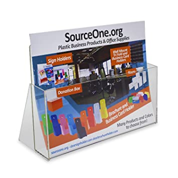 AmazonCom  Source One Clear Acrylic Brochure Holder Extra Wide
