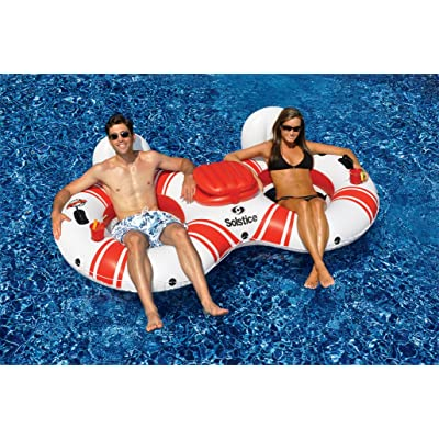 Solstice Super Chill River Tube Double Duo with Cooler: Sports & Outdoors