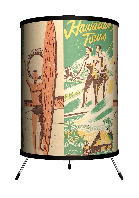 Lamp-In-A-Box TRI-SPO-SURTO Sports – Surfing Hawaiian Tours Tripod Lamp, 8 x 8 x 14