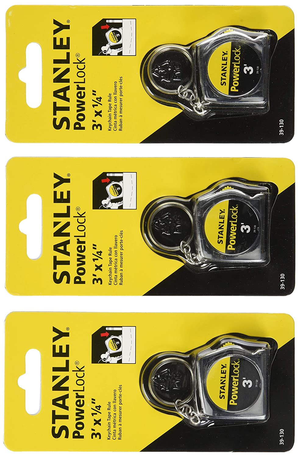 Stanley Hand Tools 39-130 3 PowerLock Key Tape Rule - 3 Pack