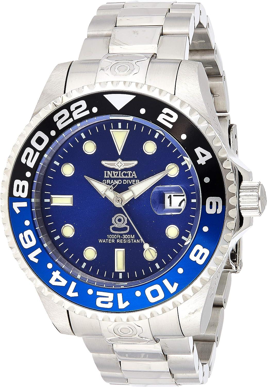Invicta 21865 Pro Diver Reloj para Hombre acero inoxidable Automático Esfera azul