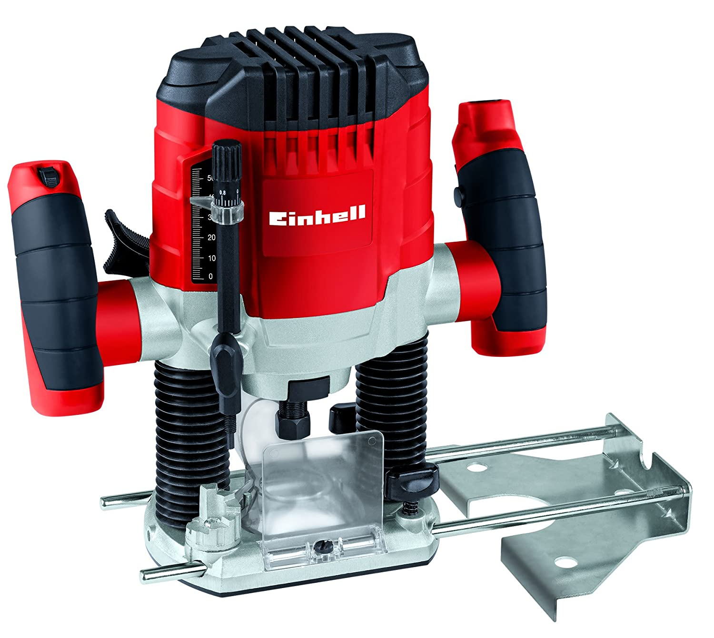 Einhell TC-RO 1155 E Fresadora, 1100 W, 230 V, 7 niveles de fresado, control electrónico (