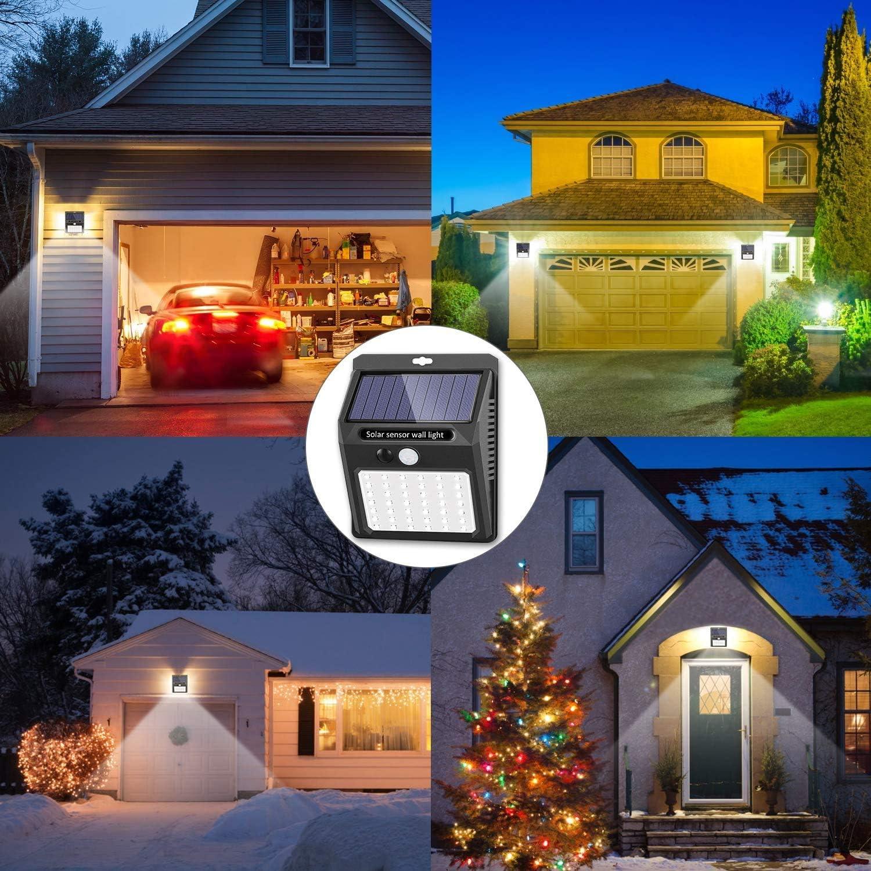 Solar Motion Lights Outdoor [30 LED/120 degree beam angle], Alpha Shark Solar Security Lights Solar Motion Sensor Lights Wireless IP 65 Waterproof Outdoor Lights for Garden Fence Patio Garage (4 Pack): Home Improvement