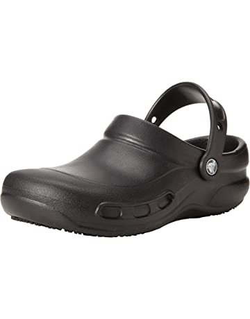 d0f7e360eebc Crocs Men's and Women's Bistro Clog | Slip Resistant Comfort Slip On Work  Shoe | Lightweight