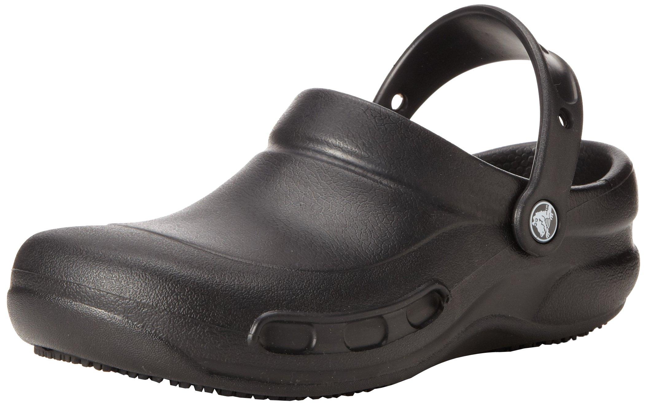 Crocs Unisex Bistro Work Clog, Black, 6 US Men's / 8 US Women's