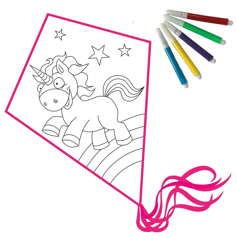 EinhornLiebe Drago Fai da Te: Aquilone Bambini Set Fai da Te e colorare FruehImport GmbH