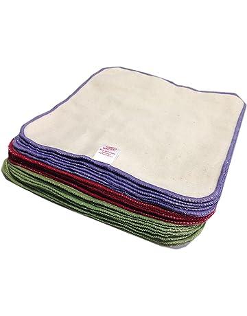 Cheeky Wipes - Toallitas de franela de algodón sin blanquear para bebé (10 unidades)