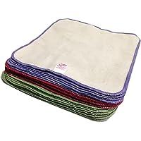Paquete de 25 toallitas de franela de algodón para de bebé