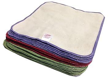 Paquete de 25 toallitas de franela de algodón para de bebé: Amazon.es: Bebé