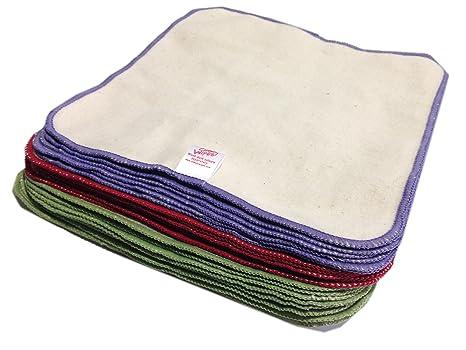 Paquete de 25 toallitas de franela de algodón para ...