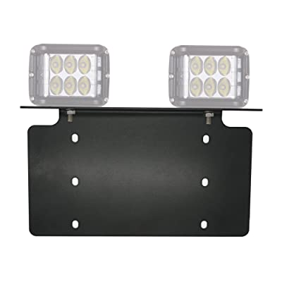 War-Horse License Plate Mounting Bracket For LED Work Light Bar and Work Lamps,Fits most license plates(black,Heavy steel plate): Automotive